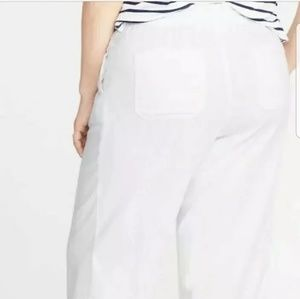 Old Navy XXL Drawstring Waist white linen pants